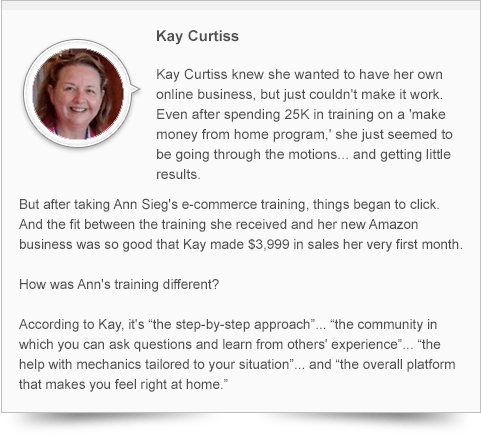 Kaye, A Student Descripts Ecommerce Training